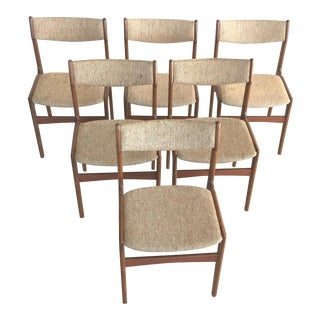 Mid-Century Modern Erik Buch Danish Teak Dining Chairs - Set of 6 For Sale
