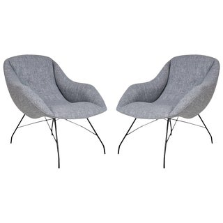 1960s Martin Eisler and Carlo Hauner Scoop Chairs for Forma, Brazil - a Pair For Sale