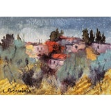 Image of 'Tuscan Landscape' by Luciano Pasquini, Italian Post-Impressionist For Sale