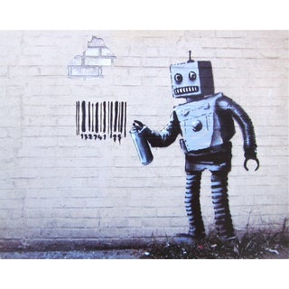 Robot, Offset Lithograph, BANKSY For Sale