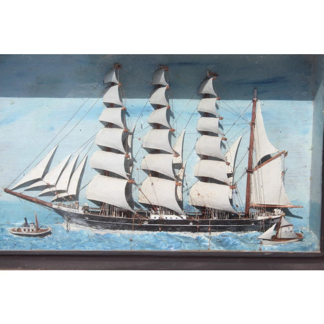 Late 19th Century 19th C. Antique American Sailing Ship Painting For Sale - Image 5 of 10