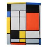 Image of Modernist Bauhaus De Stijl Screen Print by Piet Mondrian by Pace Editions, 1970 For Sale