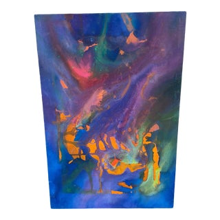 1960s Psychedelic Abstract Acrylic Painting For Sale
