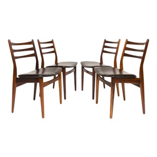 Vintage Danish Mid-Century Modern Rosewood Dining Chairs - Set of 4 For Sale
