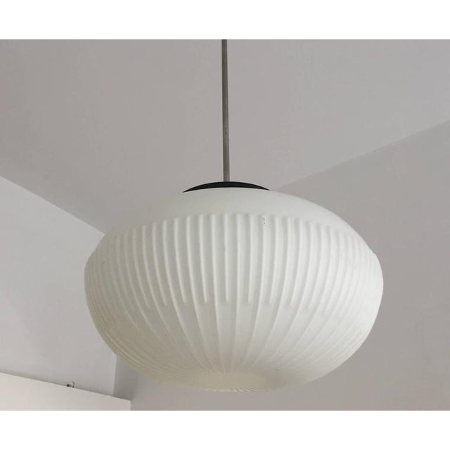 Opaline Glass Pendants with Structured Spheres For Sale - Image 9 of 10