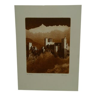 "Limited (8/10) Print Artists Proof ""La Alhambra"" by Perry Macon Oliver For Sale"