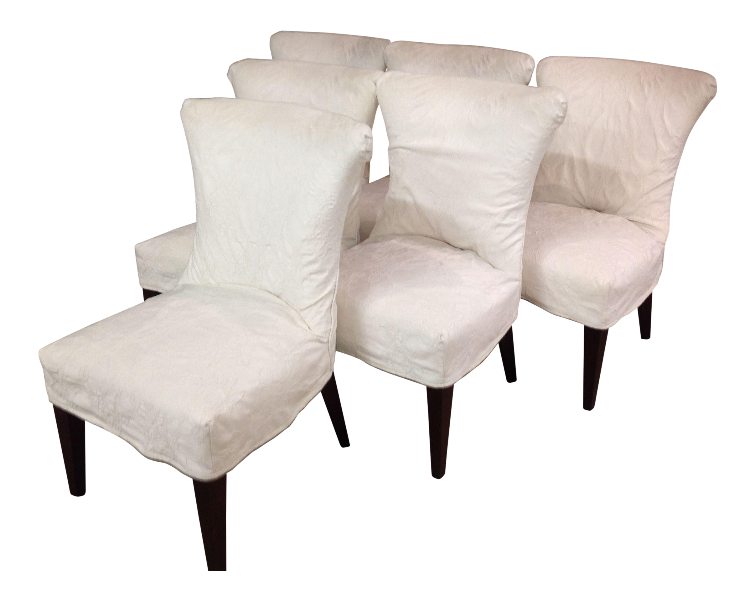 Lee Industries Slipcover Dining Chairs   Set Of 6