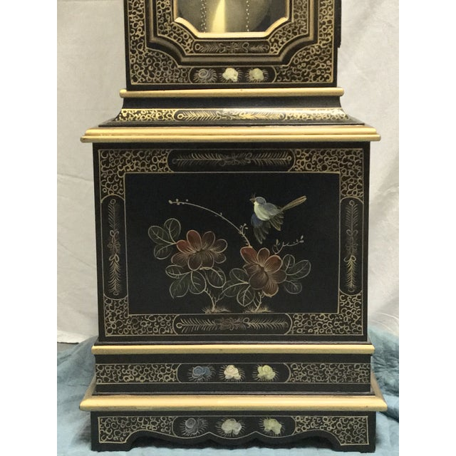 Chinoiserie Tempus Fugit Grandfather Clock - Image 8 of 10