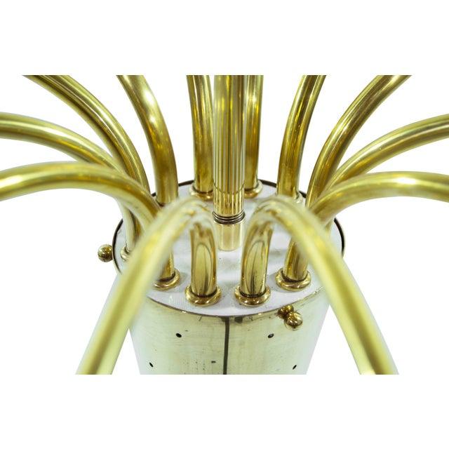 Brass Brass Sputnik Chandelier, Italy 1950s For Sale - Image 7 of 8