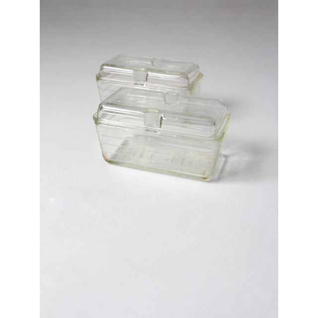Vintage Glasbake Glass Refrigerator Dishes - a Pair - Image 5 of 6
