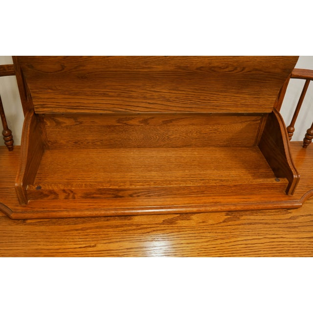 """Traditional 20th Century Traditional Lexington Furniture Recollections Collection Solid Oak 64"""" Triple Door Dresser with Mirror For Sale - Image 3 of 13"""