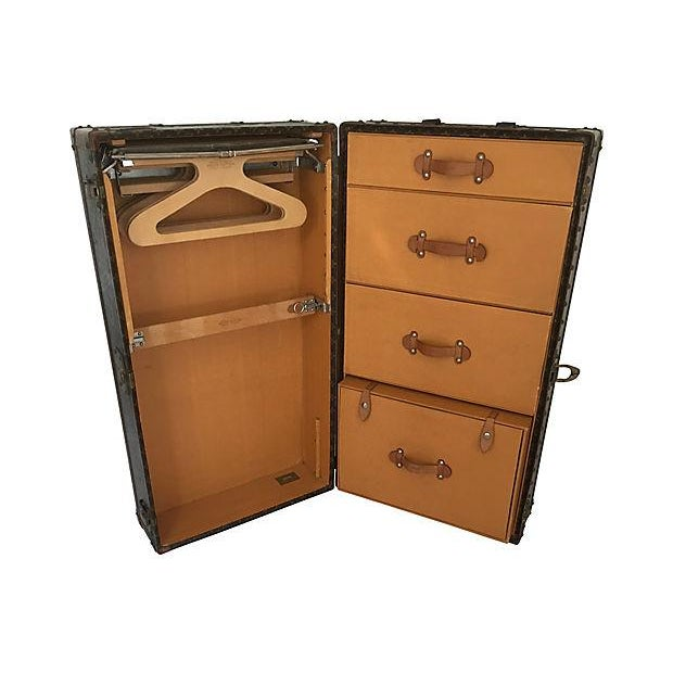 Canvas Louis Vuitton Wardrobe Trunk, Circa 1920s For Sale - Image 7 of 10