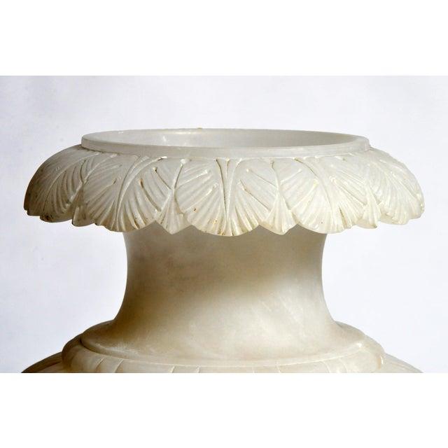 Alabaster Vintage French Alabaster Jar Lamp For Sale - Image 7 of 11