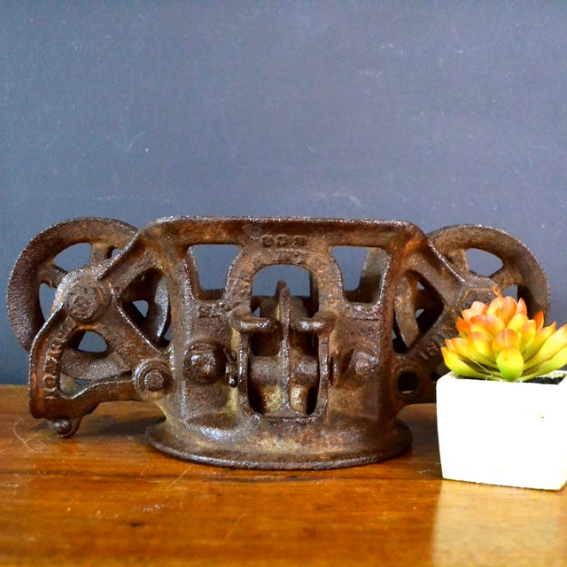 Vintage Industrial Hay Trolley, Double Pulley - Image 3 of 8