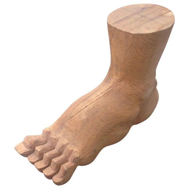 Vintage Large Carved Wood Foot For Sale