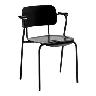 Black Lukki Chair by Ilmari Tapiovaara & Artek For Sale