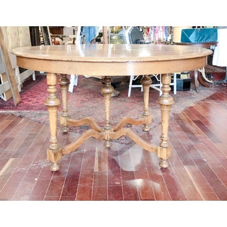 Antique Round Oak Dining Table Preview