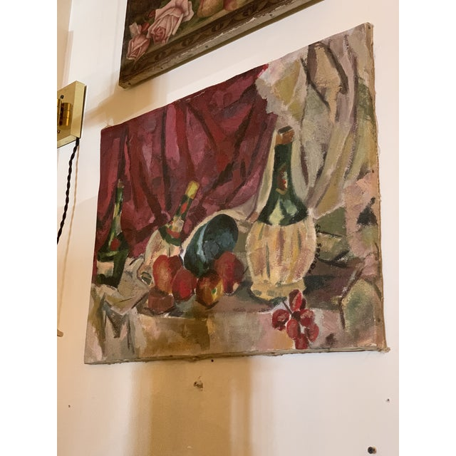 1950s Vintage Still Life Painting For Sale In Seattle - Image 6 of 6