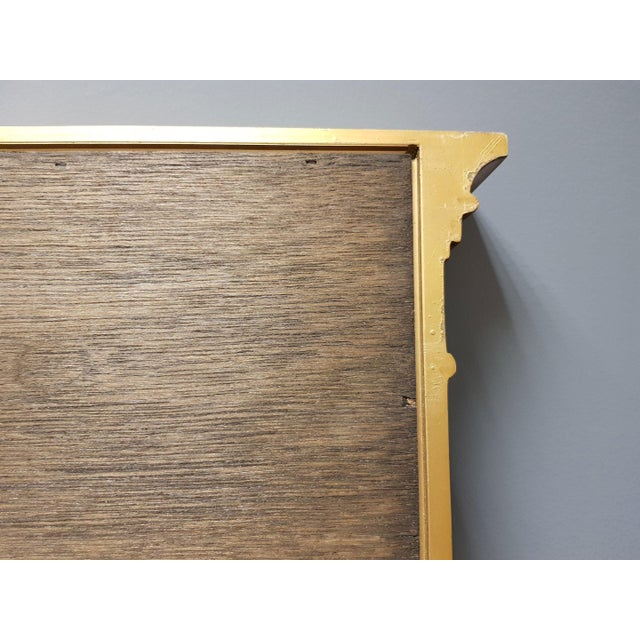 Vintage Rectangular Neoclassical Gilded Wall Mirror For Sale - Image 12 of 13