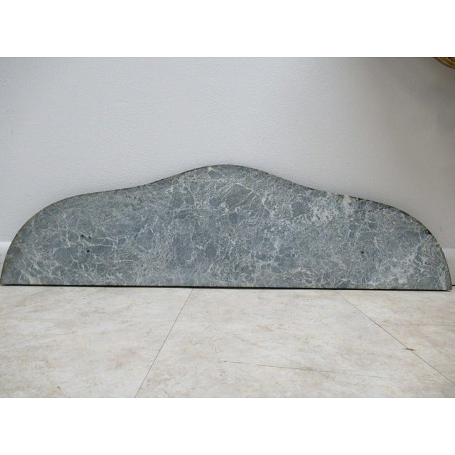 Antique French Carved Marble Top Wall Shelf Console - Image 10 of 11