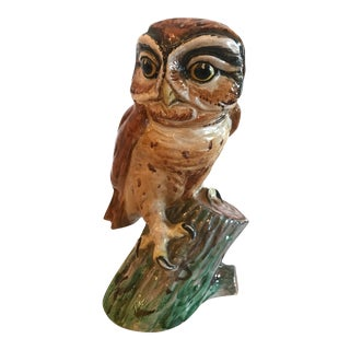 Mid Century Italian Owl Figurine For Sale