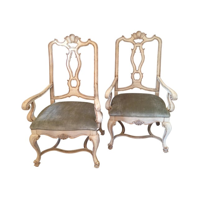Carved Italian Armchairs - A Pair - Image 1 of 9