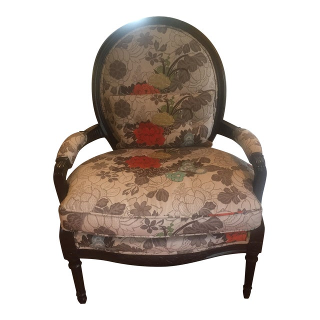 Floral Bergere Arm Chair - Image 1 of 8