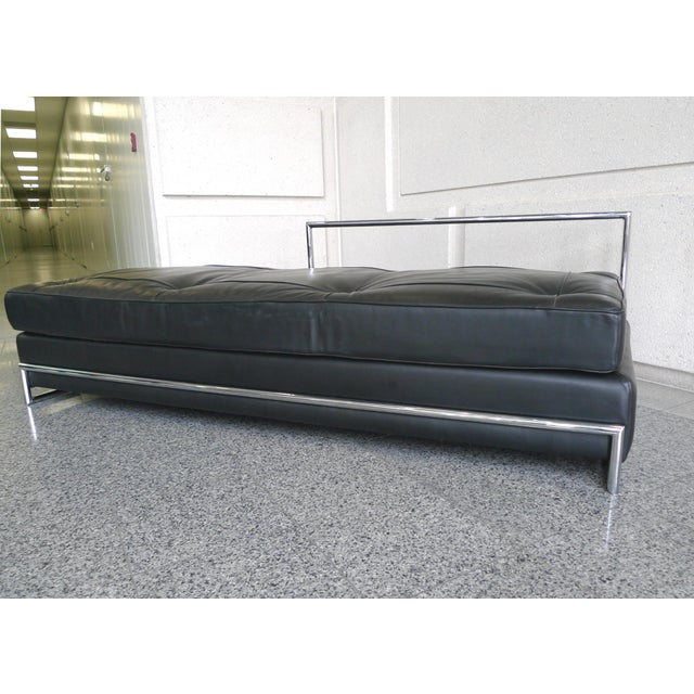 Eileen Gray Chrome and Leather Daybed - Image 8 of 8