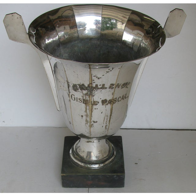 Silver Very Large French Vintage Silver Urn Trophy For Sale - Image 8 of 8