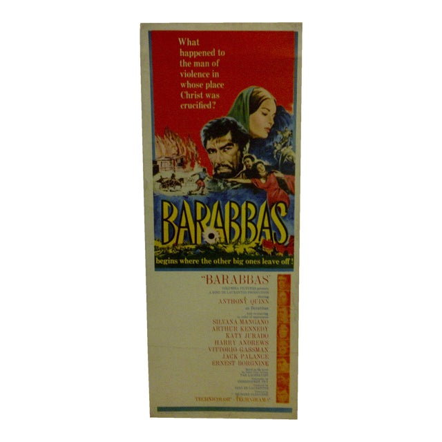"""Barabbas"" Vintage Movie Poster For Sale"
