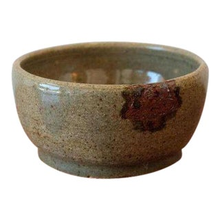 Handmade Olive Green Studio Pottery Decorative Bowl For Sale