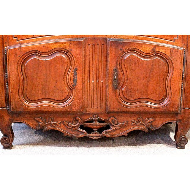 French French Provençal Fruitwood Buffet With Carved and Pierced Skirt For Sale - Image 3 of 10