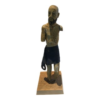 18th-Century Figurative Carved Santos Statue For Sale
