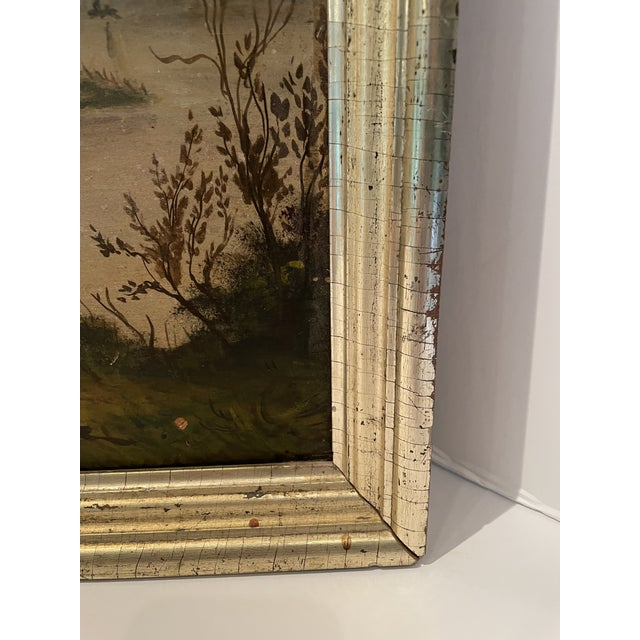 Antique Oil Painting of Landscape For Sale - Image 11 of 13