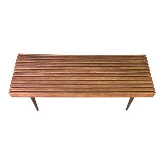 Mid-Century Slat Bench For Sale
