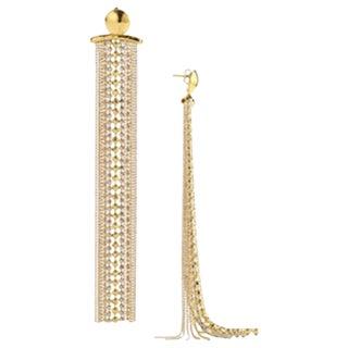 Goossens Paris Pierced Ball Chain Tassel Statement Earrings For Sale