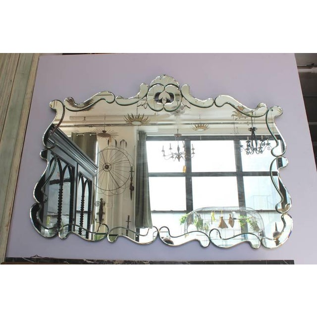 Large 1950's Venetian Style Wall Mirror For Sale - Image 9 of 12