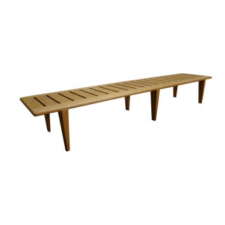 1960s Vintage Hans Wegner Slat Bench For Sale