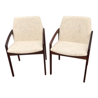 1960s Modern Kai Kristiansen Rosewood Side Chairs - a Pair For Sale
