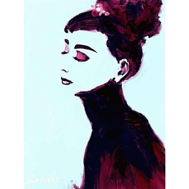 Arthur Pina de Alba, Cuban-american (1943) Audrey Edition #3 of 7 iPad drawing printed on museums quality archival pigment...