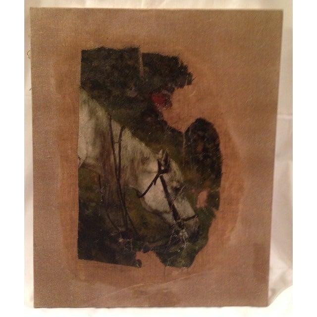 19th Century Flemish Horse Painting Fragment - Image 3 of 6