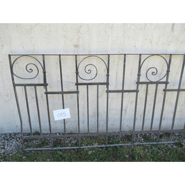 Traditional Antique Victorian Iron Gate Window Garden Fence Architectural Salvage Door #015 For Sale - Image 3 of 6