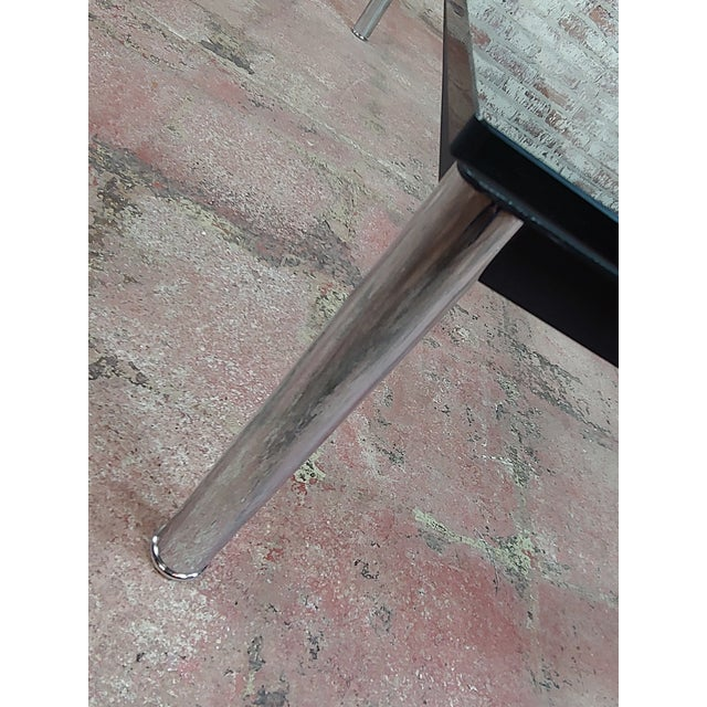 Le Corbusier for Cassina Vintage Rectangular Glass Top Coffee Table For Sale - Image 9 of 10