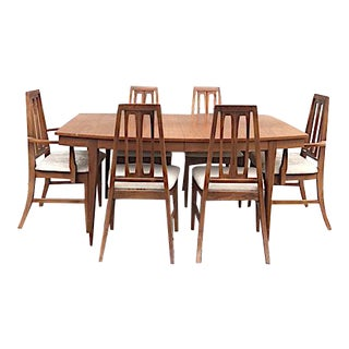 Mid-Century Modern Dining Table and Chairs- 7 pc.