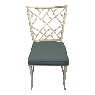 Mid-Century Modern Faux Bamboo Aluminum Chairs by Kitchner - Set of 4