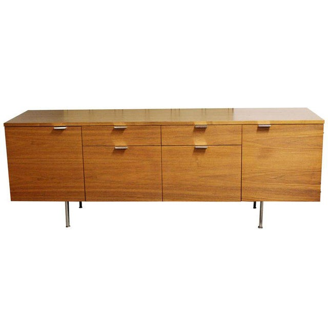 1950s Mid Century Modern George Nelson Herman Miller Walnut Desk & Credenza - 2 Pieces For Sale In Detroit - Image 6 of 13