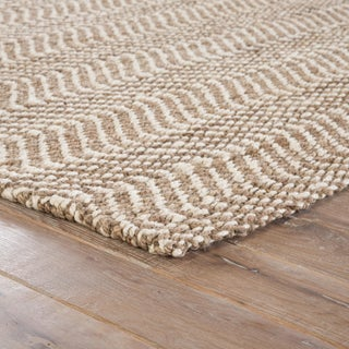 Jaipur Living Alix Natural Chevron Taupe/ White Area Rug - 10′ × 14′ Preview