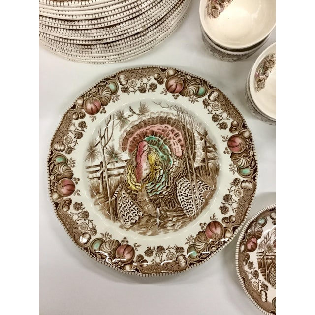 Johnson Brothers Johnson Bros His Majesty Turkey Dinnerware - Set of 71 For Sale - Image 4 of 13