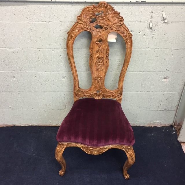 Red Venetian Side Chair - Image 2 of 10