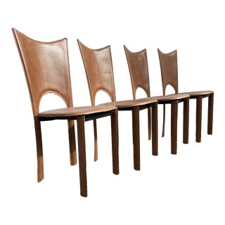 Mid-Century Modern Italian Dining Chairs- Set of 4 For Sale